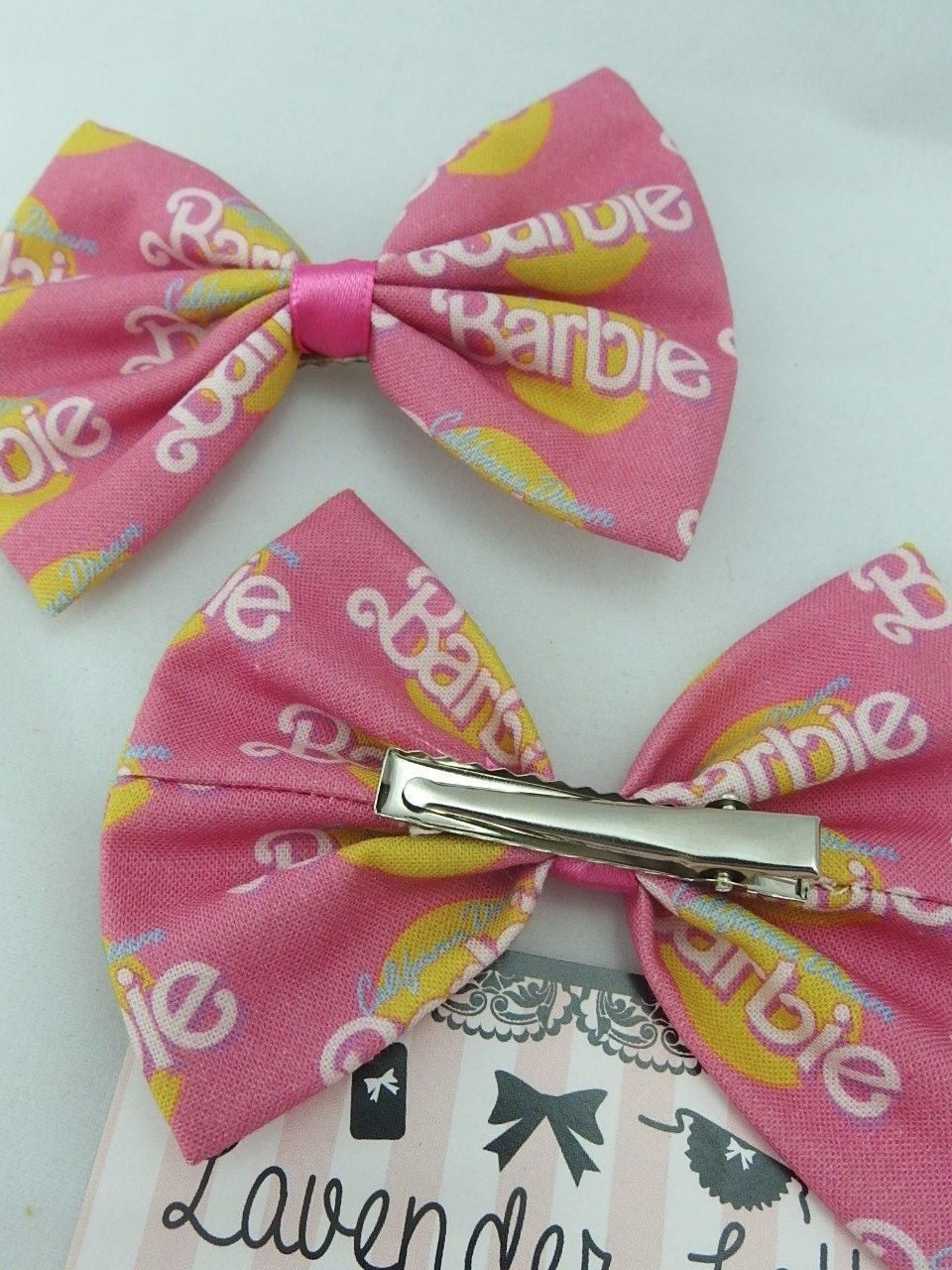 466084d0b12a5 California Dream Barbie Hot Pink Girly Fabric Hair Bow Girly Girl
