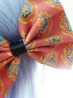 Hogwarts Crest Red Febric Hair Bow