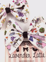 Fantasy Land Doodles Fabric Handmade Hair Bow