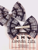 Wibbly Wobbly Timey Whimey Doctor Who Navy Tardis Fabric Hair Bow