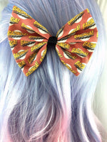 BAZINGA! Big Bang Theory Fabric Handmade Hair Bow Sheldon Cooper Geeky