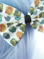 Harry Potter Inspired Handmade Hair Bow - Hogwarts House Crests - Gryffindor