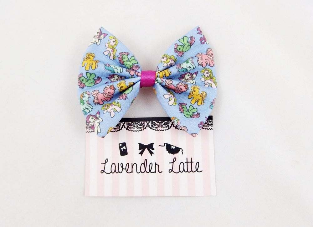 My Little Pony Retro Print Pastel Purple Fabric Hair Bow