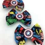 Avengers - Captain America-Hulk and Iron Man Fabric Hair Bow with Shield Centre