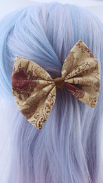 Marauders Map Brown Handmade Hair Bow Harry Potter Inspired Hair Clip