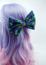 Mermaid Scales Large Hair Bow with Clip