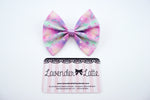 Kawaii Pastel Galaxy Nebular Handmade Medium Hair Bow