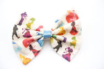 Fairytale Princess Silhouette Handmade Fabric Hair Bow Girly Hair Clip