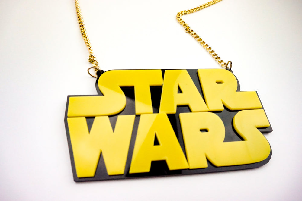 Star Wars Acrylic Laser Cut Necklace
