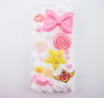 Sailor Moon Inspired Pink & Yellow Iphone 7 Plus Decoden Case