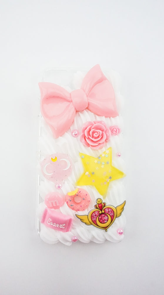 Sailor Moon Inspired Pink & Yellow Iphone 6 & 7 Decoden Case