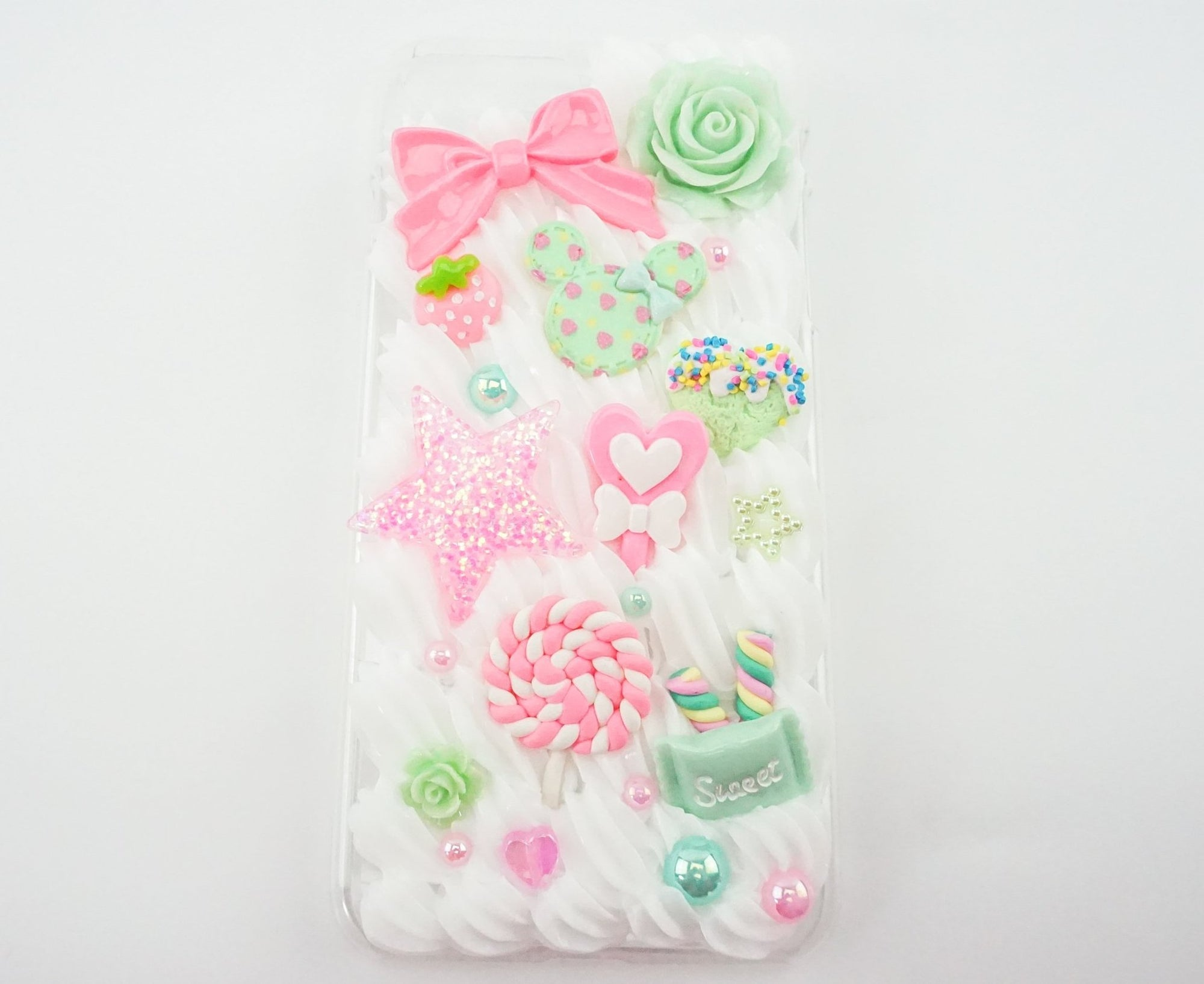 promo code d6870 69e2c Mint & Pink Candy Inspired Iphone 7 Plus Decoden Case