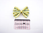Minions Chevron Printed Fabric Handmade Hair Bow