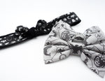 Game of Thrones Black Printed Head Tie with Black Reverse Side