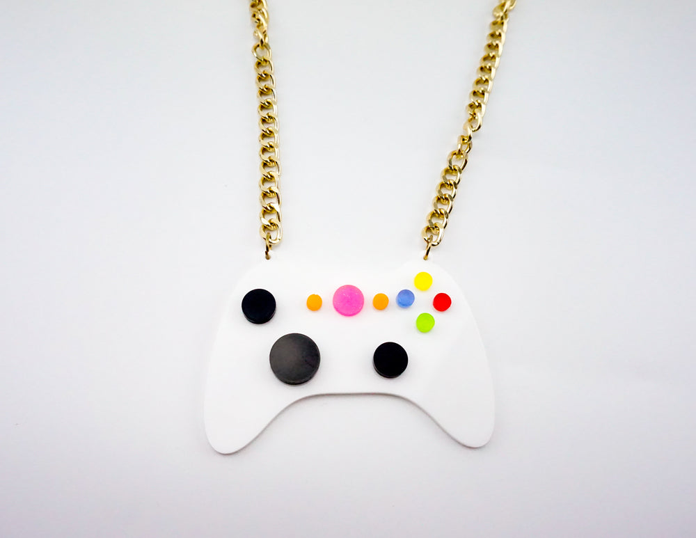 Video Game Controller Acrylic Laser Cut Necklace