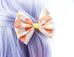 Sailor Moon Anime 90s Yellow and Pink Fabric Hair Bow Sailor Scouts Pastel Hair Clip