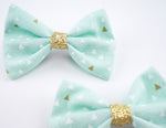 Handmade Small Hair Bow. Fabric Baby Bow