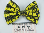 Star Wars Yellow and Black Classic Look Fabric Large Hair Bow