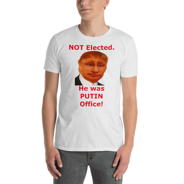 Gildan Short-Sleeve Unisex T-Shirt: Putin office 2 red text