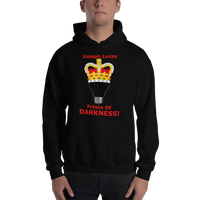 Gildan Hooded Sweatshirt: Prince of Darkness red text