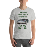 Bella and Canvas Short-Sleeve Unisex T-Shirt: only view XK 150 BRG text