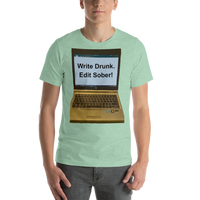 Bella and Canvas Short-Sleeve Unisex T-Shirt: write drunk lighter colors