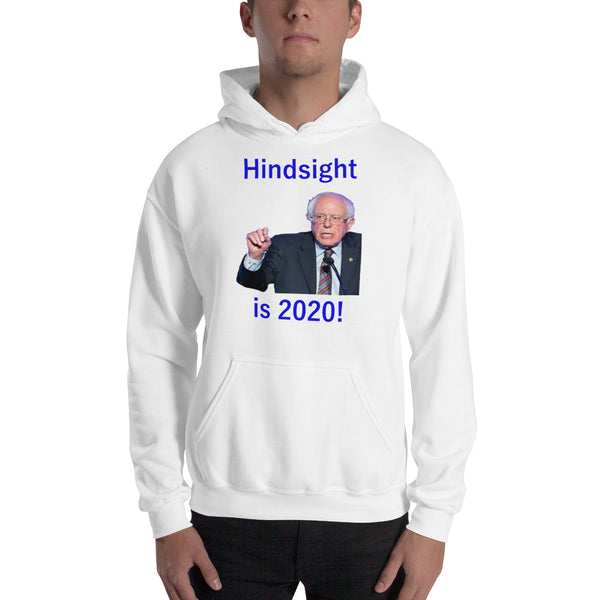 Gildan Hooded Sweatshirt: Hindsight blue text