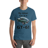 Bella and Canvas Short-Sleeve Unisex T-Shirt: GT-6 black text