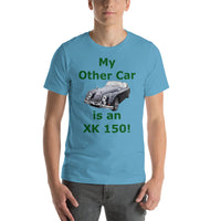 Bella and Canvas Short-Sleeve Unisex T-Shirt: XK 150 BRG text