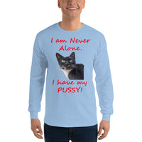 Gildan Long Sleeve T-Shirt: Have pussy red text
