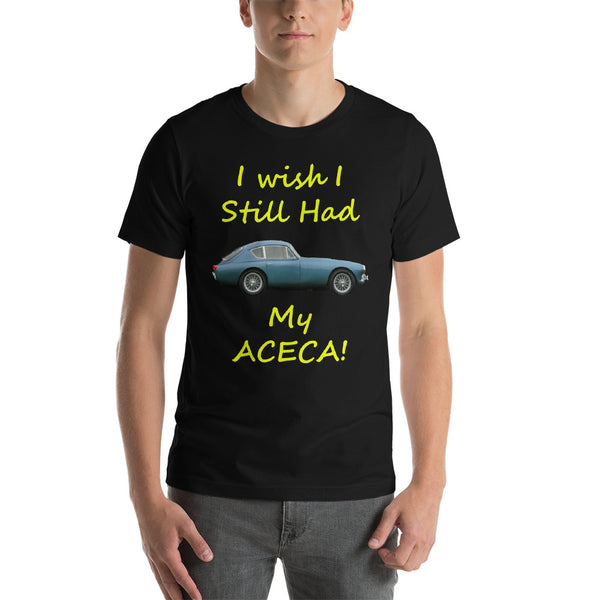 Bella and Canvas Short-Sleeve Unisex T-Shirt: Still had Aceca yellow text