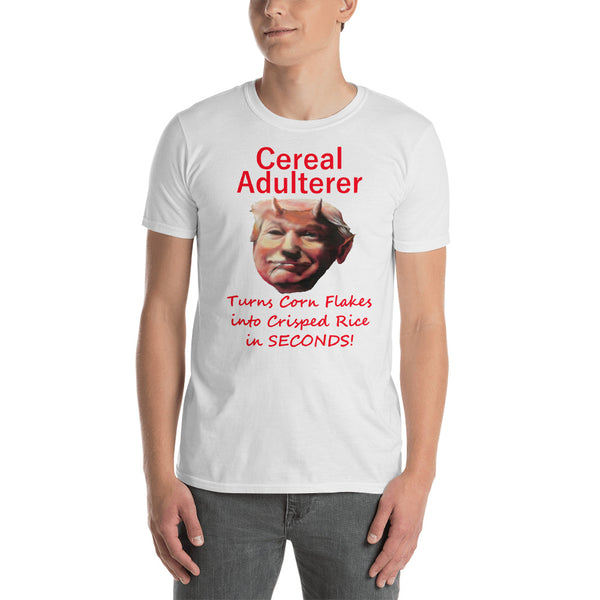 Gildan Short-Sleeve Unisex T-Shirt: Cereal adulterer red text