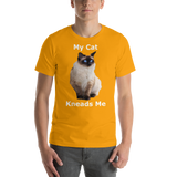 Bella and Canvas Short-Sleeve Unisex T-Shirt: kneads me Siamese white text