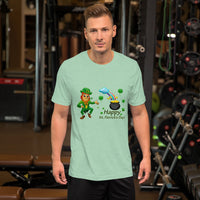 Bella and Canvas Short-Sleeve Unisex T-Shirt: Happy St Patricks Day