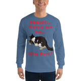 Gildan Long Sleeve T-Shirt:Kitty porn 3  red text