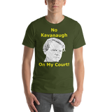 Bella and Canvas Short-Sleeve Unisex T-Shirt: no kavanaugh yellow text