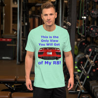 Bella and Canvas Short-Sleeve Unisex T-Shirt: Only View R8 blue text