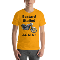 Bella and Canvas Short-Sleeve Unisex T-Shirt: BSA Gold Star black text