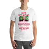 Bella and Canvas Short-Sleeve Unisex T-Shirt: Jeff Sessions difference, red text