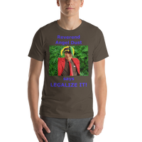 Bella and Canvas Short-Sleeve Unisex T-Shirt: Angel Dust LEGALIZE IT blue text