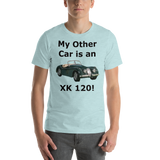 Bella and Canvas Short-Sleeve Unisex T-Shirt: XK 120 black text