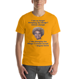 Bella and Canvas Short-Sleeve Unisex T-Shirt: Angela Davis quote blue text
