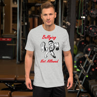 Bella and Canvas Short-Sleeve Unisex T-Shirt: Bullying red text
