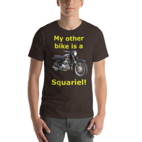 Bella and Canvas Short-Sleeve Unisex T-Shirt: Squariel yellow text