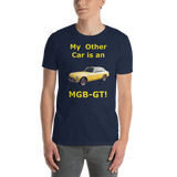Gildan Short-Sleeve Unisex T-Shirt: MGB-GT yellow text