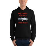 Bella and Canvas Unisex hoodie: 100-4 red text
