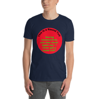 Gildan Short-Sleeve Unisex T-Shirt: Round Tuit green text on red