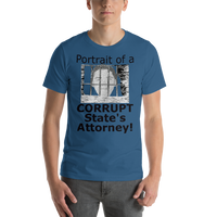 Bella and Canvas Short-Sleeve Unisex T-Shirt: Corrupt State's Attorney black text