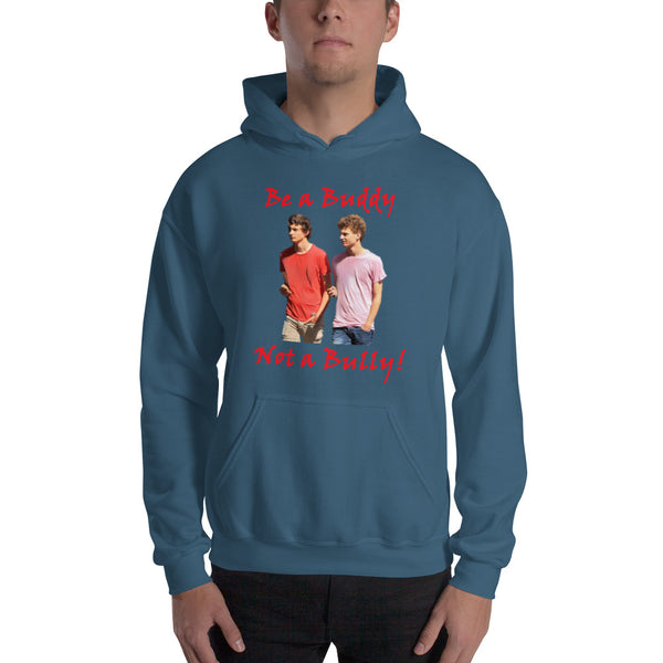 Gildan Hooded Sweatshirt: teen male red text