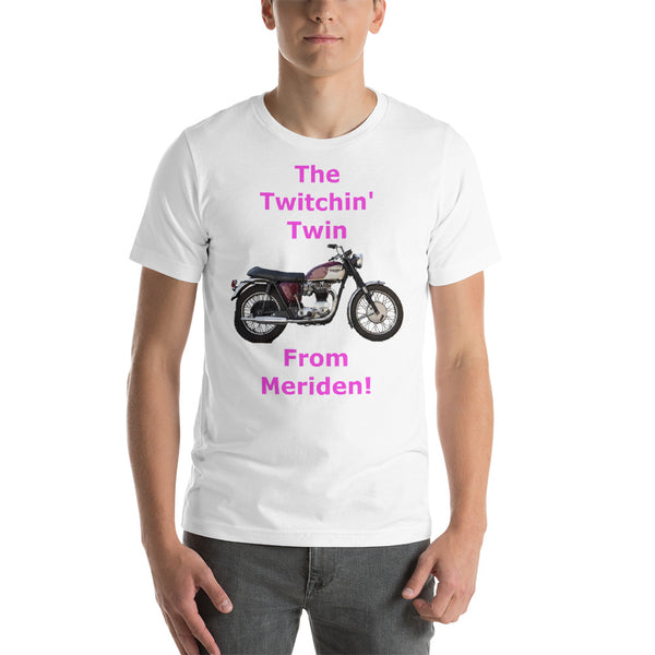 Bella and Canvas Short-Sleeve Unisex T-Shirt: Twitchin Twin magenta text